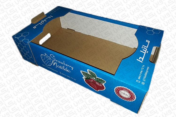 جعبه کارتن صیفی جات توت فرنگی