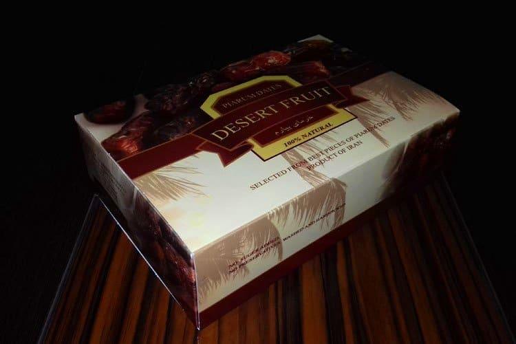 جعبه خرما پیارم صادراتی