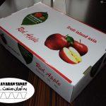جعبه کارتن میوه سیب صادراتی