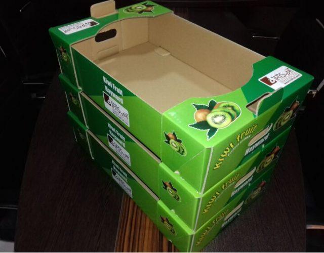 جعبه کارتن میوه کیوی لمینتی صادراتی