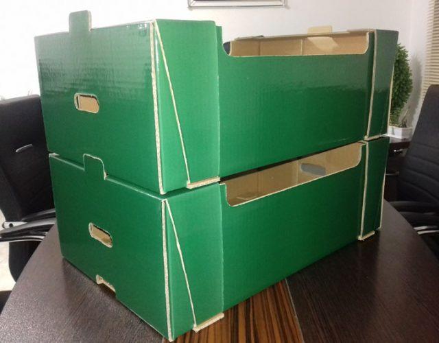 جعبه کارتن کاهو و کلم صادراتی