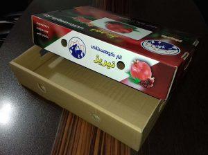 جعبه کارتن انار میوه