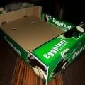 جعبه کارتن میوه بادمجان صادراتی