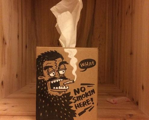 طرح جعبه دستمال کاغذی