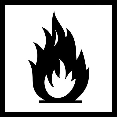 نماد بسته بندی قابل اشتعال