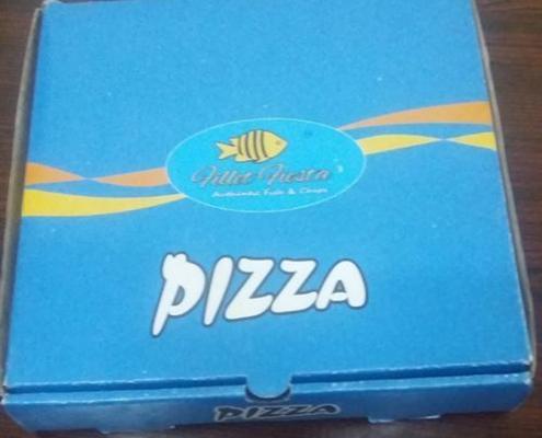 جعبه پیتزا آبی