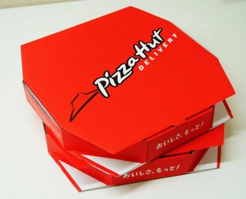 جعبه پیتزا قرمز