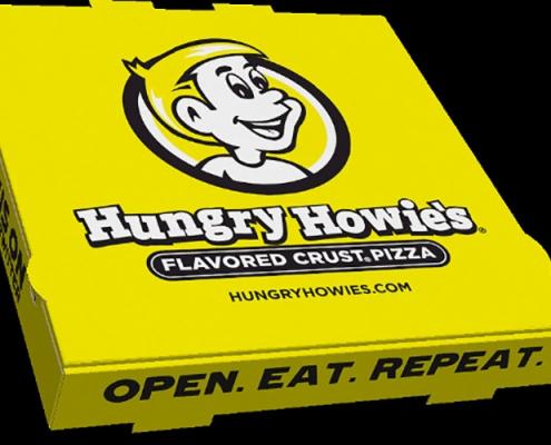 جعبه پیتزا زرد