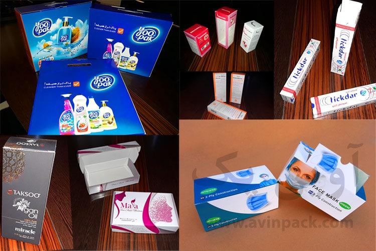 جعبه و کارتن لوازم بهداشتی و شوینده ها